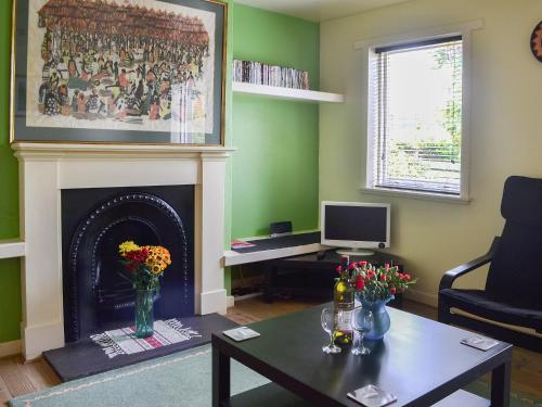 A television and/or entertainment center at Kinnettas Cottage