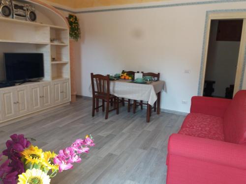 A seating area at Casa rosa Andrea barbera