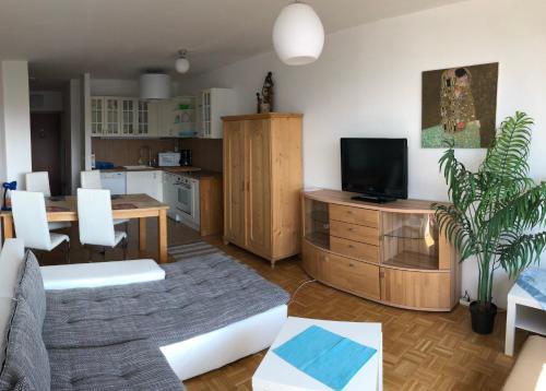TV/Unterhaltungsangebot in der Unterkunft Salzburg Apartments Business