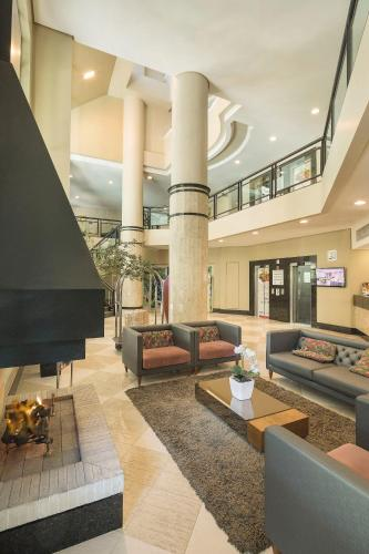 The lobby or reception area at Swan Tower Caxias do Sul