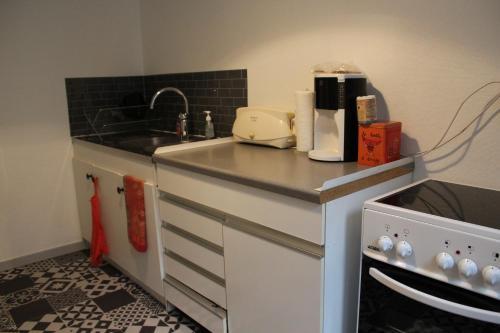 A kitchen or kitchenette at Escapade alsacienne