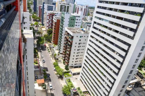 Uma vista aérea de Recife Flat Service