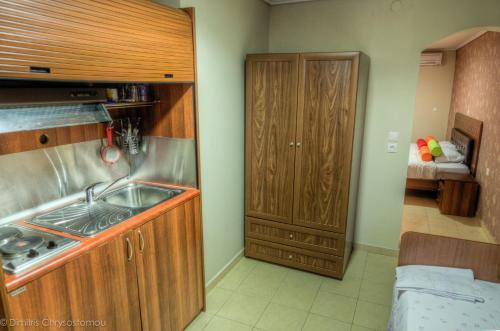 Glauke Rooms tesisinde mutfak veya mini mutfak