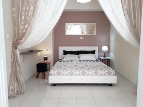 Łóżko lub łóżka w pokoju w obiekcie My Blue