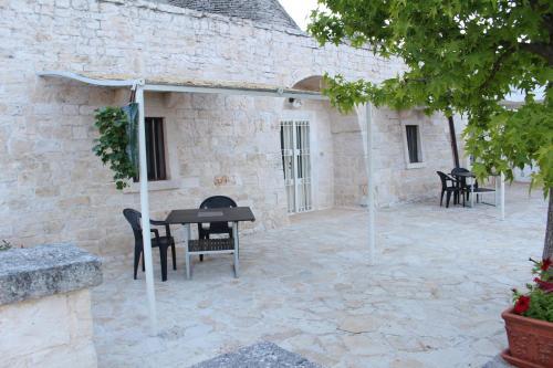 En terrasse eller udendørsområde på Antiche Dimore TerraRossa