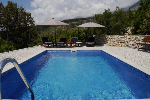 The swimming pool at or near Villa with Sea View