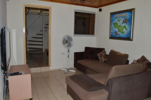 Ein Sitzbereich in der Unterkunft Villa Kass