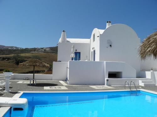 The swimming pool at or near Santorini Traditional Suites