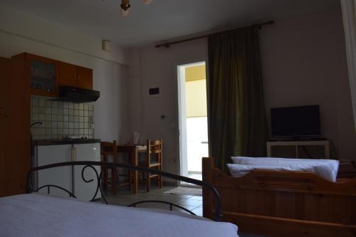 Cama ou camas em um quarto em Tereza Apartments
