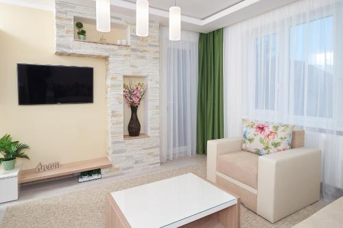 A television and/or entertainment center at Exotic Rami's Apartments