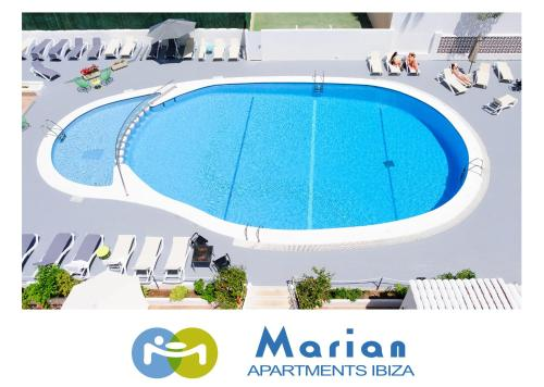 A view of the pool at Apartamentos Marian or nearby