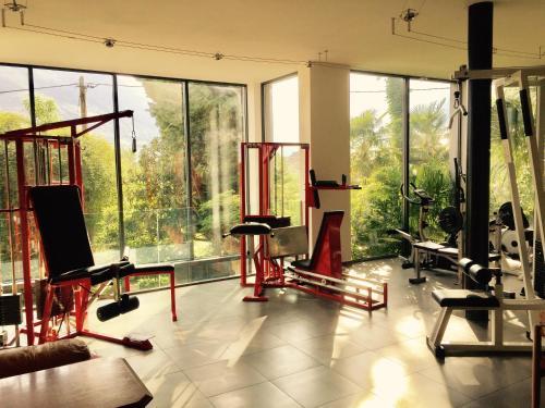 Фитнес-центр и/или тренажеры в Villa Verdi Apartments