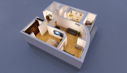 The floor plan of Apartment near water park