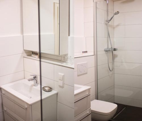 Ein Badezimmer in der Unterkunft Appartementhaus Martin