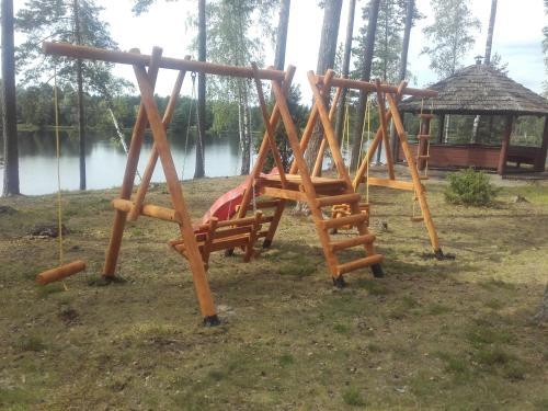 Children's play area at Alberta Dīķi