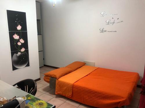 Cama o camas de una habitación en House Il Parco