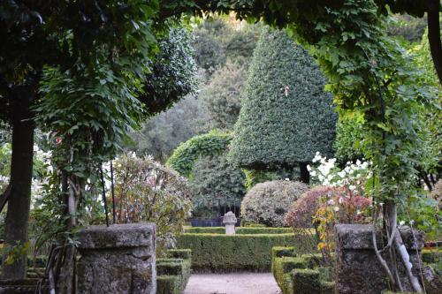 A garden outside Villa Margaridi