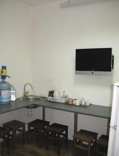 Телевизор и/или развлекательный центр в Разлив - Залив Хостел & Отель