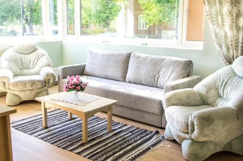 Istumisnurk majutusasutuses Pärnu Sadama 4 Street Apartment