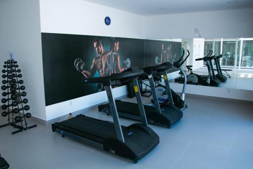 Gimnasio o instalaciones de fitness de Apartamento Gales Ingleses