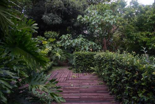 Jardín al aire libre en Villa Carlotta