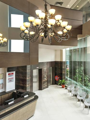 The lobby or reception area at Hotel Summer View