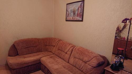 Гостиная зона в Apartment at Pobedy 22-1