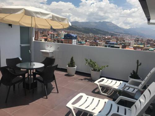 Un balcón o terraza de Luxury Inka Apartments
