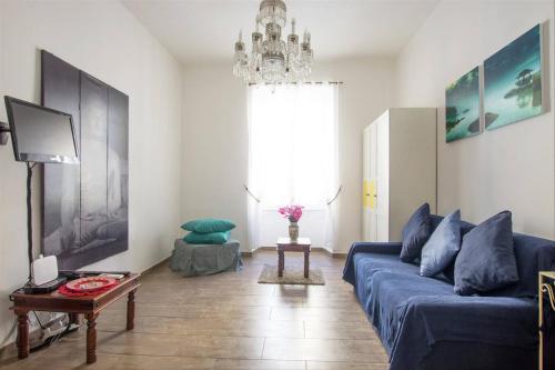 A seating area at Cuore di Testaccio Apartment