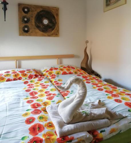Postel nebo postele na pokoji v ubytování Haus Daniela