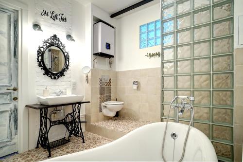 Ванная комната в Арт Лофт