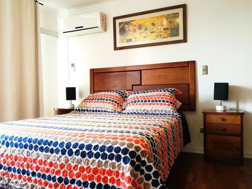 Cama o camas de una habitación en Amistar Apartments