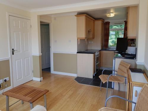 A kitchen or kitchenette at 16 Sandown Bay Holiday Centre