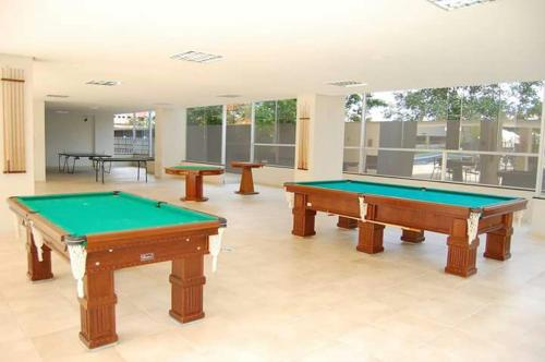 A pool table at Veredas Residence