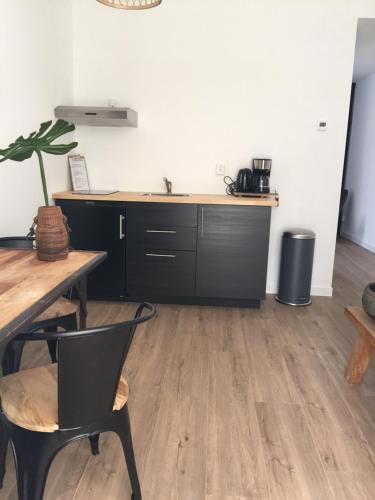 Cuisine ou kitchenette dans l'établissement appartementen zeespiegel