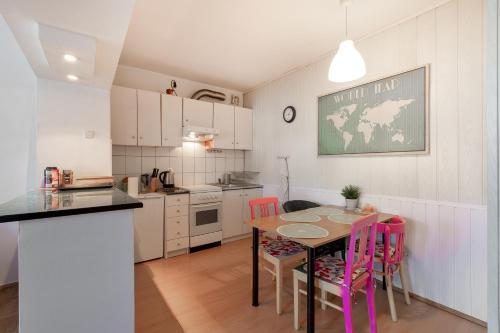 A kitchen or kitchenette at Best View Apartment - heart of Wroclaw