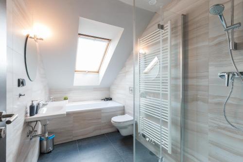 Ein Badezimmer in der Unterkunft Prime Aparts Prague