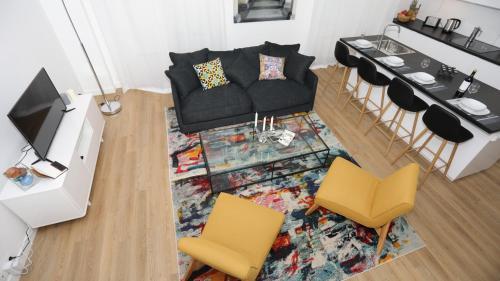 Ein Sitzbereich in der Unterkunft L'ETOILE★LEYCAHOME