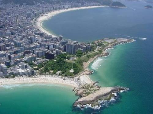 Letecký snímek ubytování Apartamento Forte Copacabana