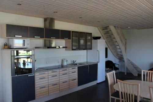 Een keuken of kitchenette bij Skelgaard Ferielejlighed