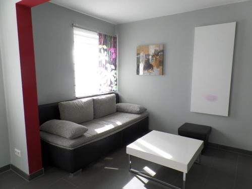 Ein Sitzbereich in der Unterkunft Besigheim