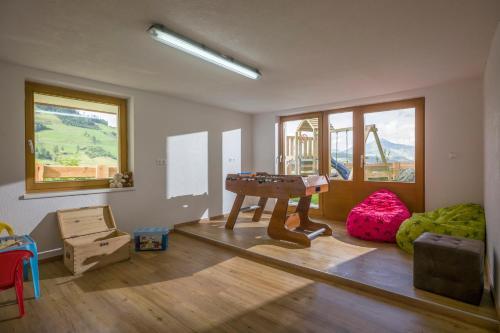 Ein Sitzbereich in der Unterkunft Z`Aglers Ferienwohnungen
