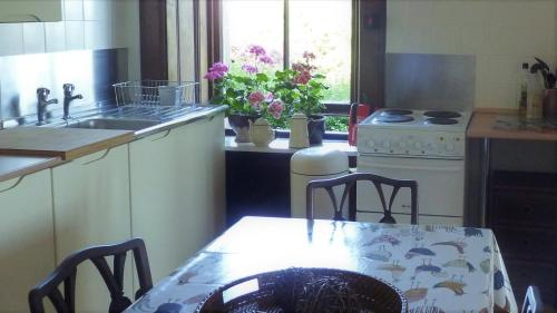 A kitchen or kitchenette at Kinneil Self Catering