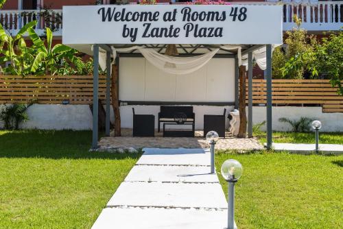 Puutarhaa majoituspaikan Rooms 48 by Zante Plaza ulkopuolella