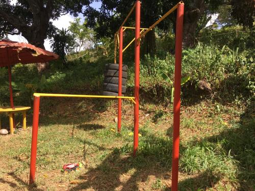 Children's play area at Sun Camp DR Eco-Village