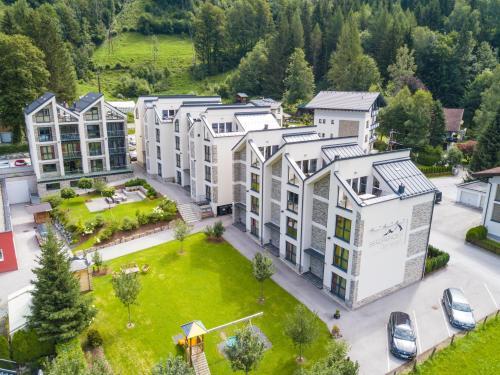 Pohľad z vtáčej perspektívy na ubytovanie Bergparadies