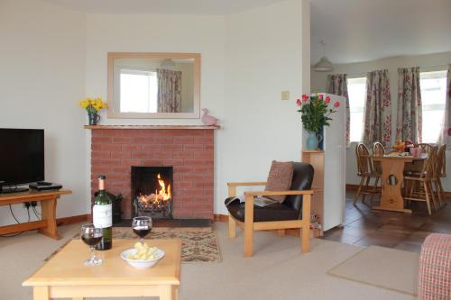 A seating area at Giant's Causeway Holiday Cottages