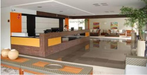 The lobby or reception area at Veredas Flat 325
