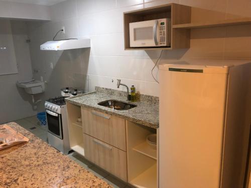 Кухня або міні-кухня у Serra Madre Residence - Rio Quente - GO