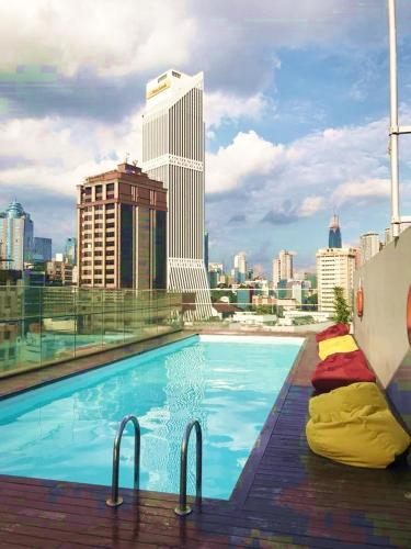 The swimming pool at or near Pacific Express Hotel Central Market Kuala Lumpur